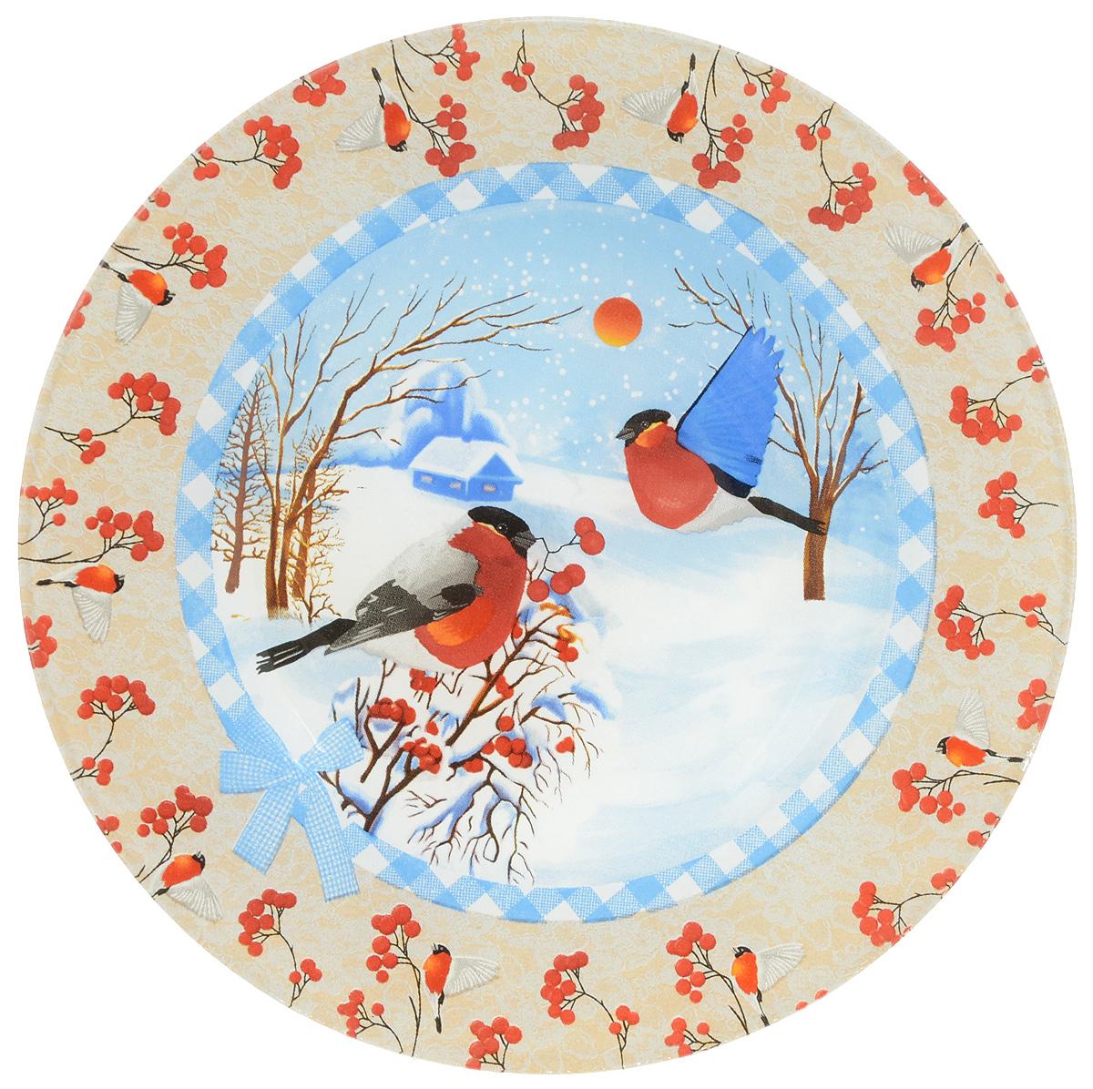 Тарелка Family & Friends, диаметр 20 см216159..Тарелка Family & Friends изготовлена из качественного стекла. Изделие декорировано красивым рисунком. Такая тарелка отлично подойдет в качестве блюда для сервировки закусок и нарезок, ее также можно использовать как обеденную. Тарелка Family & Friends будет потрясающе смотреться на новогоднем столе. Яркий запоминающийся дизайн и качество исполнения сделают ее отличным новогодним подарком. Не рекомендуется использовать в микроволновой печи и мыть в посудомоечной машине.