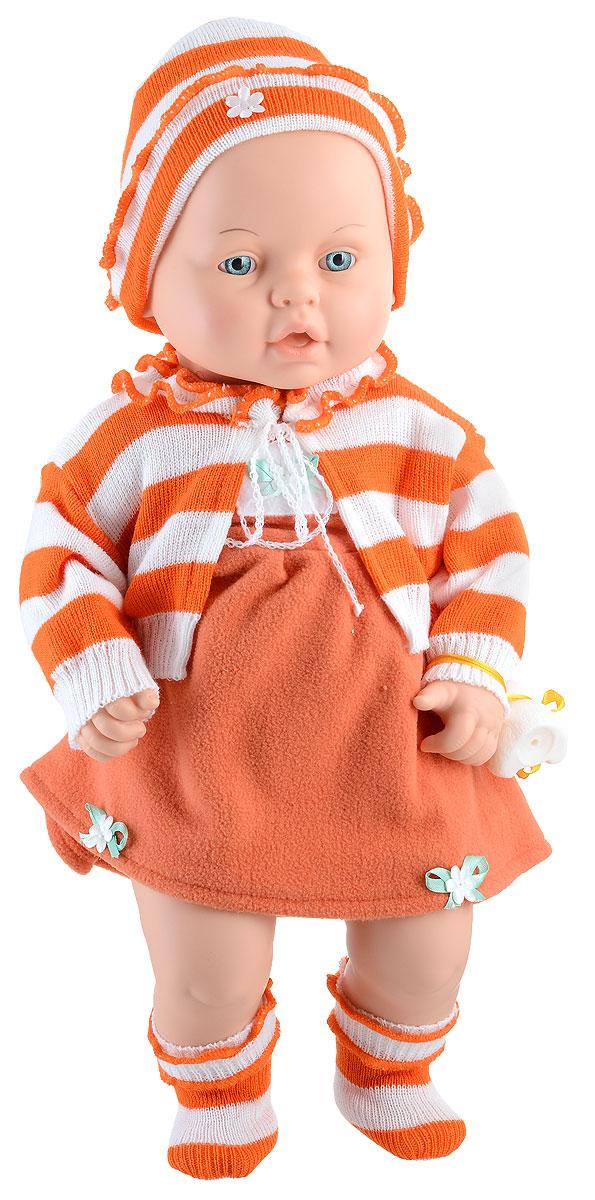 Весна Пупс Женечка цвет одежды оранжевый белыйВ1178_оранжевыйПупс Весна Женечка может стать настоящей подружкой для ребенка. Кукла очень похожа на настоящего ребенка, с милым личиком, детскими припухлостями, ее так и хочется взять на ручки и позаботиться о ней. Спокойное, приятное выражение лица способствует эмоциональному развитию ребенка. Женечка одета в платье, вязаную кофточку, шапочку и пинетки. На ручке у пупса привязана небольшая игрушка. Продуманная конструкция куклы позволяет ее сажать, укладывать спать, переодевать. Кукла подходит для сюжетных игр и разнообразных игровых действий ребенка.