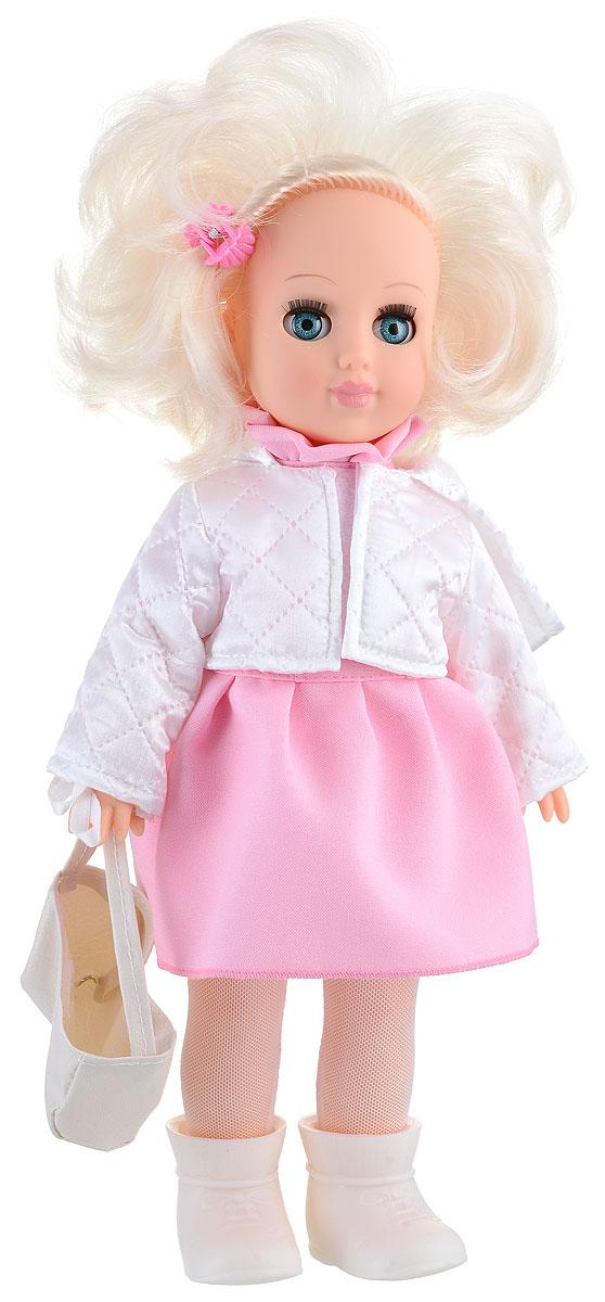 Весна Кукла Алла цвет одежды розовый белыйВ2534_розовыйБлагодаря миловидной кукле Весна у вашей дочки появится не просто игрушка, а новая красивая подружка по имени Алла. Кукла одета в стильное платье с коротким рукавом, куртку из термосинтепона и колготки из сетки-стрейч. На ногах - белые сапожки. У Аллы подвижные ручки и ножки, а ее реалистичные светлые волосы можно причесывать и украшать заколочками. Юная хозяйка сможет уложить любимицу спать, и куколка правдоподобно погрузится в сон, закрыв свои глазки. Кукла изготовлена из материалов, которые соответствуют требованиям безопасности, предусмотренным техническим регламентом Таможенного союза. Играя с куклой, дети смогут развить фантазию при придумывании сюжета для игры, а также разовьют моторику рук, переодевая игрушку в красивые наряды.