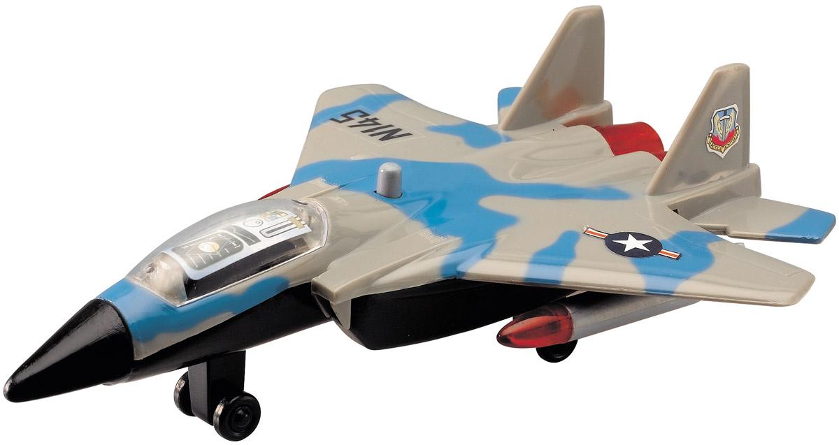 Dickie Toys Истребитель цвет серый голубой3342007_серый/голубойИстребитель Dickie Toys является миниатюрной копией настоящего истребителя. Игрушка, изготовленная из прочного пластика, порадует вашего малыша. Истребитель снабжен двумя шасси и двумя ракетами для запуска. При нажатии кнопки на корпусе слышны реалистичные звуки взлетающего и садящегося истребителя. Порадуйте своего ребенка таким замечательным подарком. Рекомендуется докупить 2 батарейки типа LR41 (товар комплектуется демонстрационными).