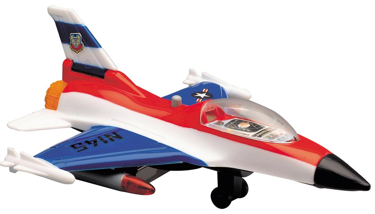 Dickie Toys Истребитель цвет синий красный3342007_синий/красныйИстребитель Dickie Toys является миниатюрной копией настоящего истребителя. Игрушка, изготовленная из прочного пластика, порадует вашего малыша. Истребитель снабжен двумя шасси и двумя ракетами для запуска. При нажатии кнопки на корпусе слышны реалистичные звуки взлетающего и садящегося истребителя. Порадуйте своего ребенка таким замечательным подарком. Рекомендуется докупить 2 батарейки типа LR41 (товар комплектуется демонстрационными).