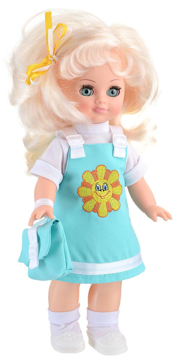 Весна Кукла озвученная Христина цвет одежды мятный белыйВ303/о_мятныйВ раннем возрасте девочкам очень важно играть с куклами, которые не только выполнены из безопасных и качественных материалов, но и внешне напоминают настоящих живых малышек. Кукла Весна Христина прекрасно подойдет в качестве любимой куклы, так как обязательно понравится детям своим привлекательным внешним видом и функцией воспроизведения простых фраз и предложений. Христина выглядит очень модно и стильно: на ней одет сарафанчик на лямочках и водолазка с короткими рукавами. Прекрасно дополняют образ куклы такие аксессуары как сумочка с ремешком, а на ножках - миниатюрные ботиночки и носочки. Христина произносит несколько простых фраз при нажатии на спинку игрушки: Мама!, Почитай мне книжку!, Давай поиграем!, Есть хочу!, Хочу спать!. Одежда с куклы очень легко снимается, и есть возможность докупить другие варианты нарядов. Волосы Христины тщательно прошиты, поэтому их можно укладывать в красивые прически и расчесывать. Для работы игрушки ...