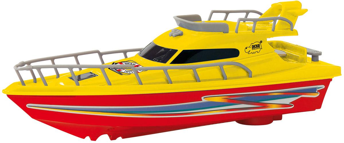 Dickie Toys Яхта Ocean Dream цвет красный желтый3774001_красный/желтыйЯхта с турбодвигателем Dickie Toys Ocean Dream, выполненная из качественных материалов, поможет вашему ребенку почувствовать себя настоящим морским спасателем. Колеса у яхты свободно вращаются. Такая игрушка разнообразит игровые ситуации, откроет новые сюжеты для маленького автолюбителя и поможет развить мелкую моторику рук, внимание и координацию движений. Не упустите шанс порадовать своего малыша замечательным подарком! Для работы игрушки необходима 1 батарейка типа AA (не входит в комплект).