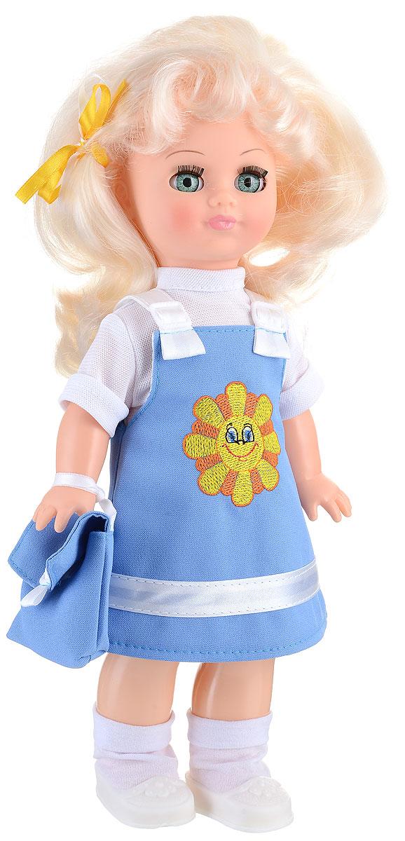 Весна Кукла озвученная Христина цвет одежды голубой белыйВ303/о_голубойВ раннем возрасте девочкам очень важно играть с куклами, которые не только выполнены из безопасных и качественных материалов, но и внешне напоминают настоящих живых малышек. Кукла Весна Христина прекрасно подойдет в качестве любимой куклы, так как обязательно понравится детям своим привлекательным внешним видом и функцией воспроизведения простых фраз и предложений. Христина выглядит очень модно и стильно: на ней одет сарафанчик на лямочках и водолазка с короткими рукавами. Прекрасно дополняют образ куклы такие аксессуары как сумочка с ремешком, а на ножках - миниатюрные ботиночки и носочки. Христина произносит несколько простых фраз при нажатии на спинку игрушки: Мама!, Почитай мне книжку!, Давай поиграем!, Есть хочу!, Хочу спать!. Одежда куклы очень легко снимается, и есть возможность докупить другие варианты нарядов. Волосы Христины тщательно прошиты, поэтому их можно укладывать в красивые прически и расчесывать. Для работы игрушки ...