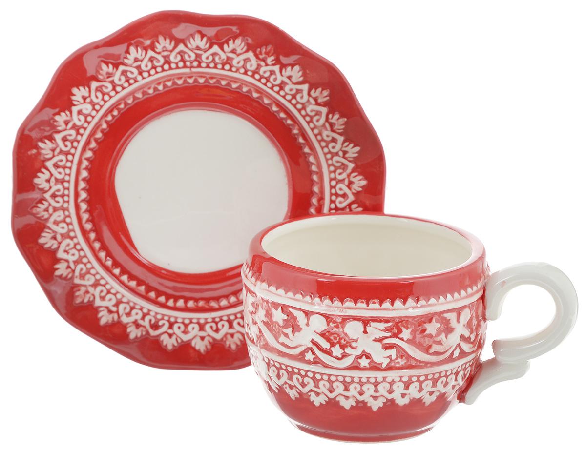 Чайная пара Family & Friends Рождественский узор, 2 предметаNH15B614R..Чайная пара Family & Friends Рождественский узор состоит из чашки и блюдца, изготовленных из высококачественного фарфора. Изделия оформлены в классическом стиле и имеют изысканный внешний вид. Такой набор прекрасно дополнит сервировку стола к чаепитию и подчеркнет ваш безупречный вкус. Чайная пара Family & Friends Рождественский узор - это прекрасный подарок к любому случаю. Объем чашки: 270 мл. Диаметр чашки (по верхнему краю): 8 см. Высота чашки: 7,5 см. Диаметр блюдца: 15 см. Высота блюдца: 1,8 см. Не рекомендуется использовать в микроволновой печи и мыть в посудомоечной машине.