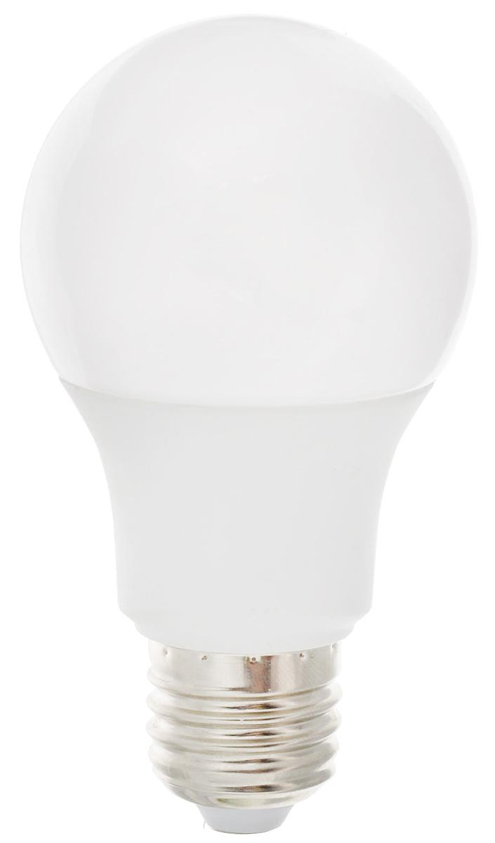 Лампа светодиодная Ergolux LED-A60-9W-E27-3K, теплый свет, цоколь Е27, 9 Вт12411Лампа светодиодная Ergolux - новое решение в светотехнике. Светодиодная лампа экономит до 90% электроэнергии благодаря низкой потребляемой мощности. Лампа не содержит ртути и других вредных веществ, экологически безопасна и не требует утилизации. Срок службы в 2,5-3 раза дольше энергосберегающей лампы и в 30 раз дольше лампы накаливания. Обладает высокой ударопрочностью благодаря корпусу из пластика и металла. Мгновенно включается, не мерцает во время работы. Светодиодные лампы идеально подходят для основного и акцентного освещения интерьеров, витрин, декоративной подсветки. Кроме того, они создают уютную атмосферу и позволяют экономить электроэнергию уже с первого дня использования. Мощность: 9 Вт. Цоколь: Е27. Теплый свет: 3000К. Тип: А60. Эффективность: 78 лм/Вт. Световой поток: 700 лм. Напряжение: 172-265 В. Индекс цветопередачи (Ra): 77+. Угол светового пучка: 270°. Использовать при...