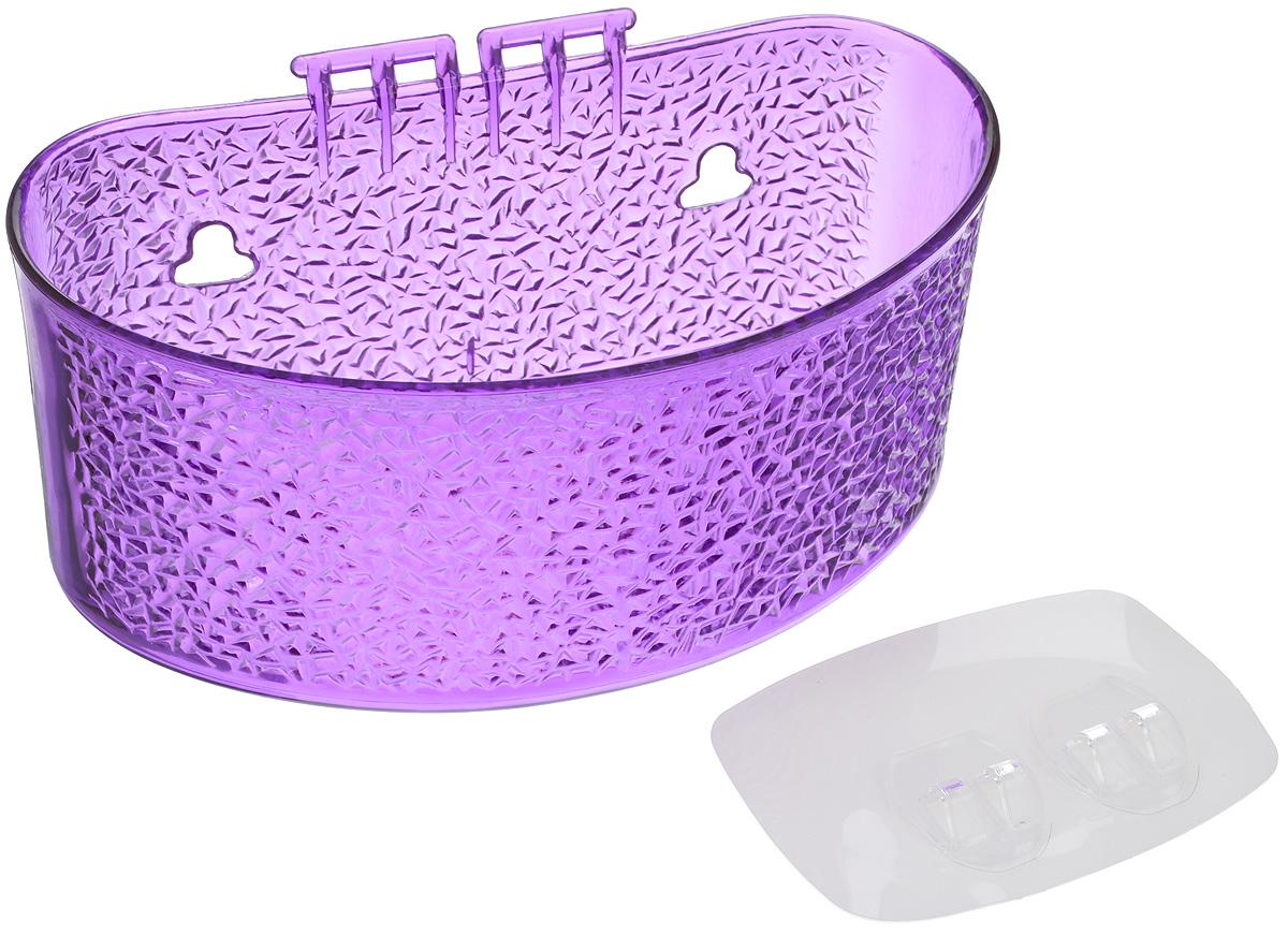 Полка для ванной комнаты Fresh Code, на липкой основе, цвет: фиолетовый, 19 х 10 х 10 см64943_фиолетовыйПолка для ванной комнаты Fresh Code выполнена из ABS пластика. Крепление на липкой основе многократного использования идеально подходит для гладкой поверхности. Полка поможет создать настроение вашей ванной комнаты. Подходит для всех типов гладких поверхностей. Максимальная нагрузка 3 кг.