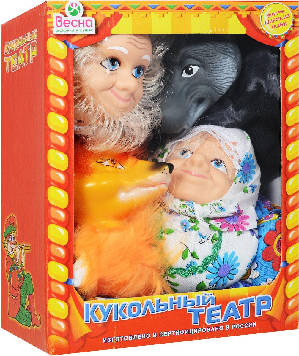 Весна Кукольный театр Бабка Дед Волк ЛисаВ2928Почему бы не устроить представление у себя дома, используя куклы-перчатки? С кукольным театром Весна малыш сможет быть не только зрителем, но и участником представления с собственным сюжетом. Набор состоит из четырех куколок, которые одеваются на руку, и текстильной ширмы. В наборе куклы Деда, Бабки, Лисы и Волка. С этим набором можно воспроизвести любую сказку, где присутствуют такие персонажи. В комплекте большая тканевая ширма с удобными завязками. Головы и ладошки кукол выполнены из мягкого пластика, а туловища из текстиля, у каждого героя свой очень красивый наряд. Куклы обладают высокой степенью прочности и безопасности и могут использоваться для игры даже с самыми маленькими детками. Кукольный театр развивает ребенка и делает его более яркой, гармоничной личностью. Ведь в театральных постановках малыш может реализовать свои творческие и актерские таланты, научиться красиво говорить и двигаться. А какое огромное количество позитивных...