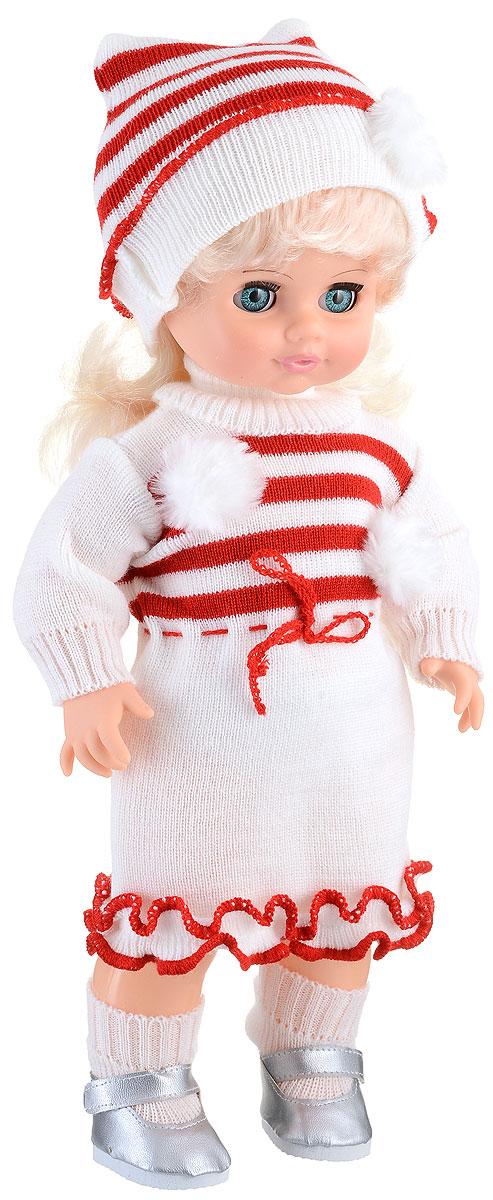Весна Кукла озвученная Инна цвет одежды белый красныйВ1056/о_белый, красныйМилашка Инна - чудесная куколка, которая станет настоящей подружкой для вашей дочурки. Игрушка обладает интересным игровым функционалом: она оборудована звуковым модулем, благодаря которому умеет разговаривать. Инна очень любит чистоту, поэтому ее реплики имеют тематику, направленную на соблюдение гигиены: она просит вымыть ей ручки и лицо, спрашивает, где полотенце и искренне радуется летающим мыльным пузырькам. Инна одета в нарядное вязаное платье и шапочку, на ногах у нее гольфы и серебристые туфельки. Волосы Инны выглядят очень реалистично, их можно укладывать, как захочется. Глаза куклы закрываются, если уложить ее спать. Милая игрушка станет лучшей подружкой для девочки и научит ребенка доброте и заботе о других. Для работы игрушки рекомендуется докупить 3 батарейки LR44/AG13/СЦ357 (товар комплектуется демонстрационными).