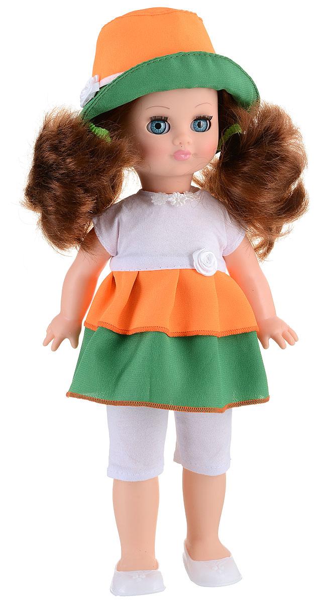 Весна Кукла озвученная Герда цвет одежды оранжевый зеленый белыйВ282/о_оранжевыйКукла Весна Герда - это стильная кукла, одетая в яркое платье и милую шляпку. Длинные волосы игрушки позволят девочке проявить фантазию и придумать необычные прически для своей куклы. Герда умеет произносить несколько забавных фраз. Достаточно нажать кнопочку у нее на спине, и вы услышите мелодичный и нежный голосок куклы. В ее арсенале такие реплики - Почитай мне книжку, Давай поиграем, Хочу спать. Благодаря устойчивой конструкции куклу можно ставить на ножки. Если положить Герду спать, она закроет глазки. Для работы игрушки рекомендуется докупить 3 батарейки LR44/AG13/СЦ357 (товар комплектуется демонстрационными).