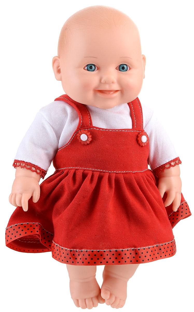 Весна Пупс Малышка цвет одежды белый красныйВ2189Пупс Весна Малышка имеет анатомическую особенность, указывающую на его пол: девочка. Кукла очень похожа на настоящего ребенка, с милым личиком, детскими припухлостями, ее так и хочется взять на ручки и позаботиться о ней. Веселое, приятное выражение лица способствует эмоциональному развитию ребенка. Малышка одета в кофточку и сарафанчик. Продуманная конструкция куклы позволяет ее сажать, укладывать спать, переодевать. Кукла подходит для сюжетных игр и разнообразных игровых действий ребенка.