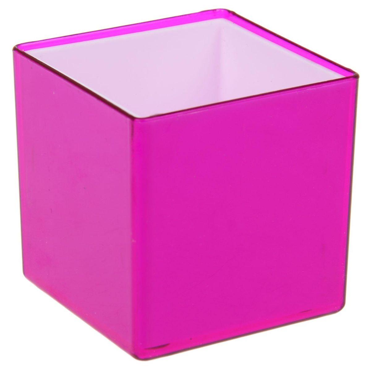 Кашпо JetPlast Мини куб, на магните, цвет: темно-фиолетовый, 6 x 6 x 6 см4612754050475Кашпо JetPlast Мини куб предназначено для украшения любого интерьера. Благодаря магнитной ленте, входящей в комплект, вы можете разместить его не только на подоконнике, столе или иной поверхности, а также на холодильнике и любой другой металлической поверхности, дополняя привычные вещи новыми дизайнерскими решениями. Кашпо можно использовать не только под цветы, но и как подставку для ручек, карандашей и прочих канцелярских мелочей. Размеры кашпо: 6 х 6 х 6 см.