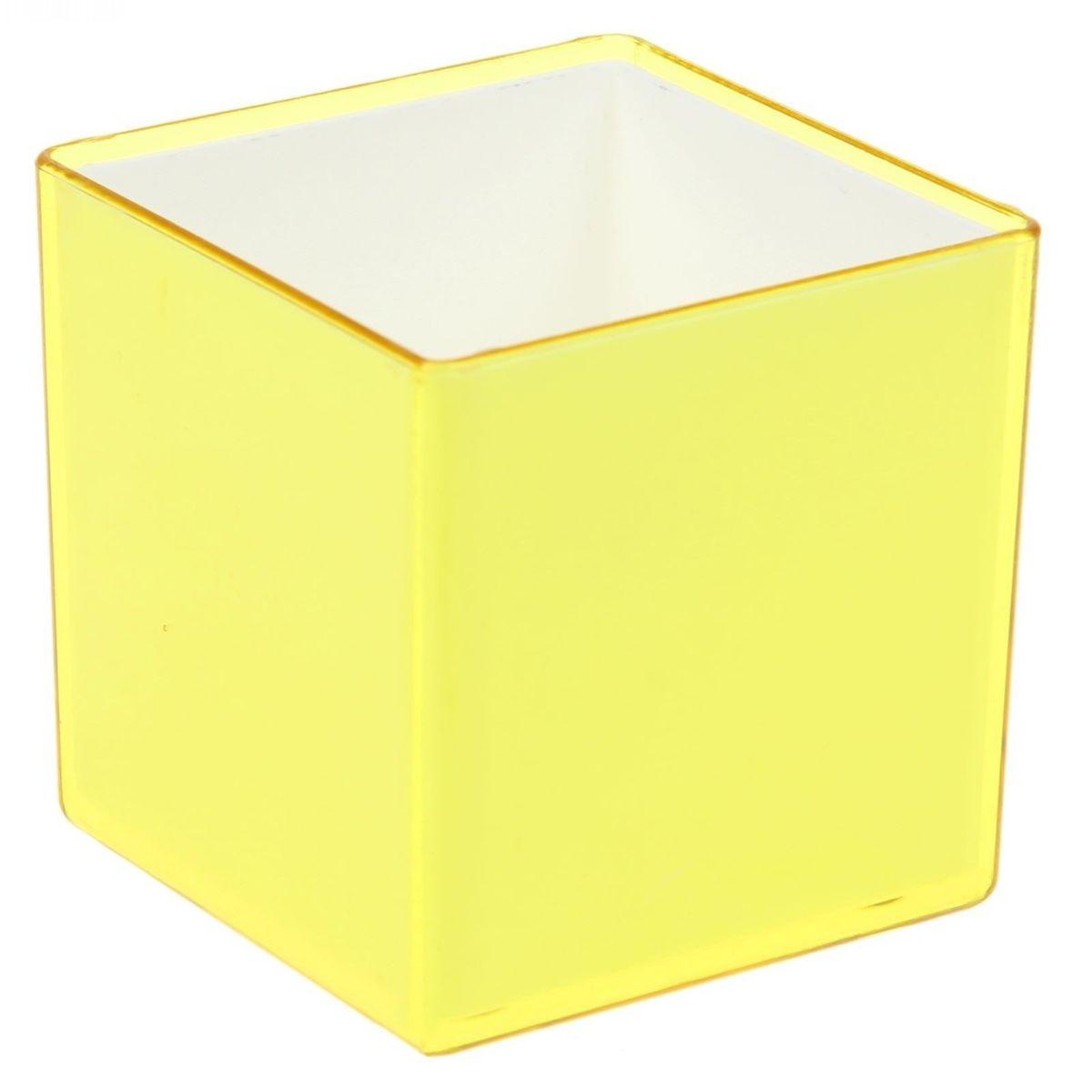 Кашпо JetPlast Мини куб, на магните, цвет: желтый, 6 x 6 x 6 см4612754050499Кашпо JetPlast Мини куб предназначено для украшения любого интерьера. Благодаря магнитной ленте, входящей в комплект, вы можете разместить его не только на подоконнике, столе или иной поверхности, а также на холодильнике и любой другой металлической поверхности, дополняя привычные вещи новыми дизайнерскими решениями. Кашпо можно использовать не только под цветы, но и как подставку для ручек, карандашей и прочих канцелярских мелочей. Размеры кашпо: 6 х 6 х 6 см.