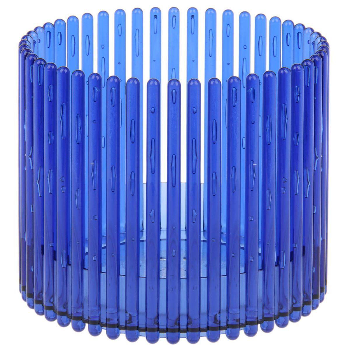 Кашпо JetPlast Шарм, цвет: синий, 14 x 12 см4612754051076Кашпо Шарм изготовлено из поликарбоната. Изделие имеет уникальную конструкцию: бортик в нижней части кашпо дает возможность создания у корней орхидеи благоприятную влажность, а сквозная конструкция стенок кашпо дает возможность беспрепятственному проникновению света на корни растения и их вентиляцию. Стильный яркий дизайн сделает такое кашпо отличным дополнением интерьера.