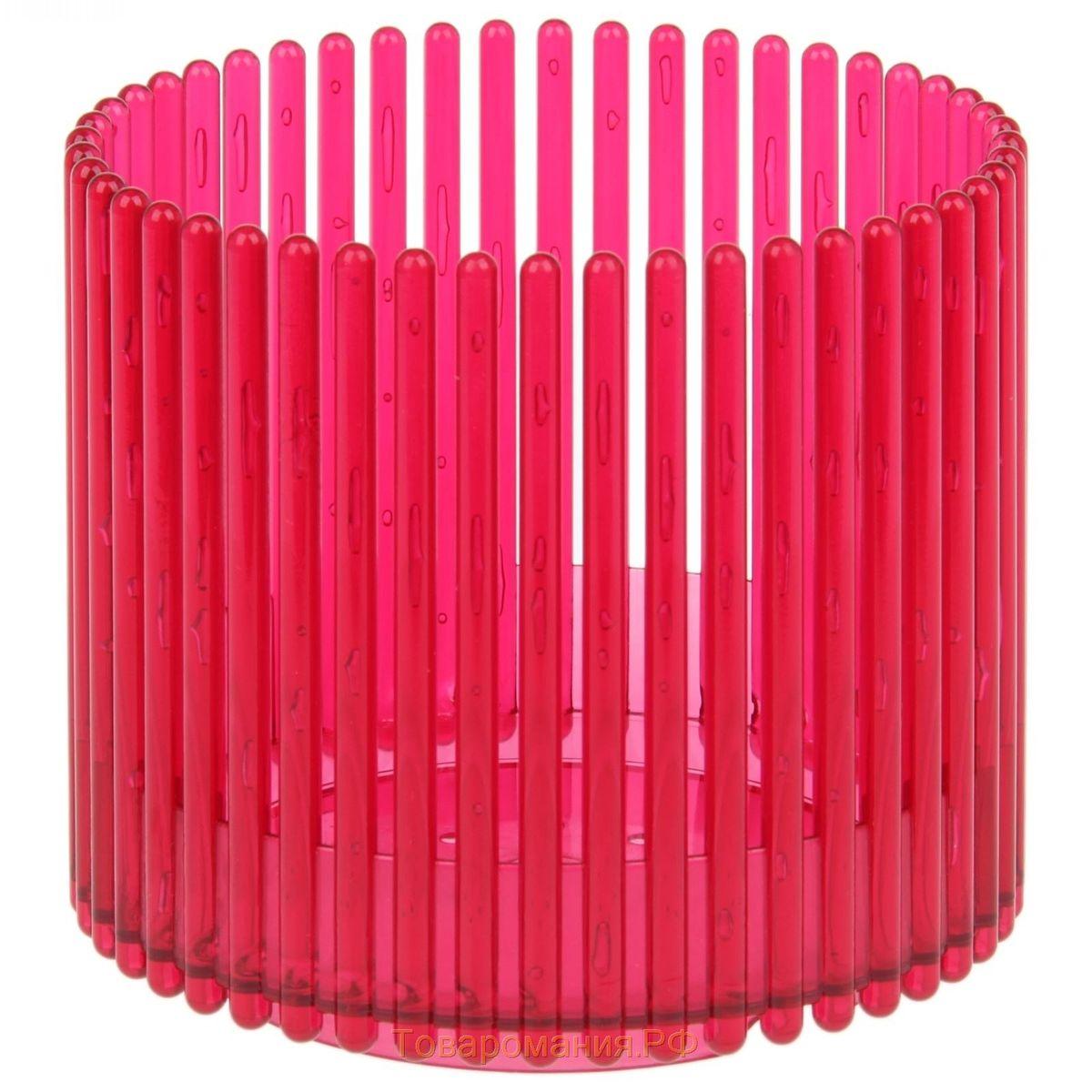 Кашпо JetPlast Шарм, цвет: красный, 14 x 12 см4612754051090Кашпо Шарм изготовлено из поликарбоната. Изделие имеет уникальную конструкцию: бортик в нижней части кашпо дает возможность создания у корней орхидеи благоприятную влажность, а сквозная конструкция стенок кашпо дает возможность беспрепятственному проникновению света на корни растения и их вентиляцию. Стильный яркий дизайн сделает такое кашпо отличным дополнением интерьера.