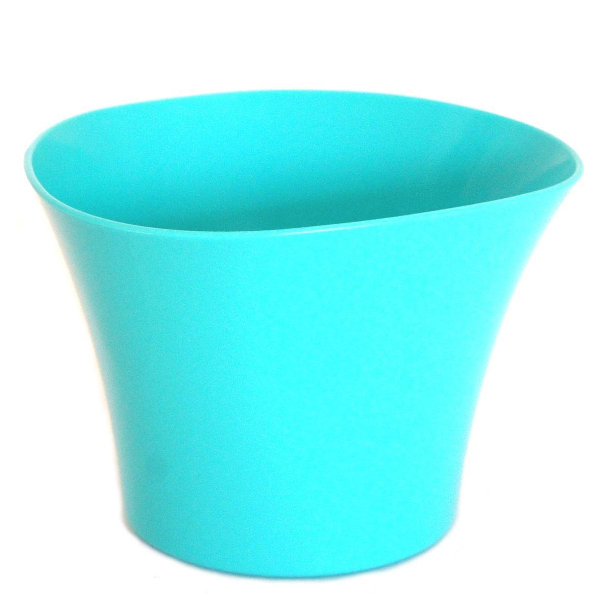 Кашпо JetPlast Волна, цвет: бирюзовый, 600 мл4612754051458Кашпо Волна имеет уникальную форму, сочетающуюся как с классическим, так и с современным дизайном интерьера. Оно изготовлено из прочного полипропилена (пластика) и предназначено для выращивания растений, цветов и трав в домашних условиях. Такое кашпо порадует вас функциональностью, а благодаря лаконичному дизайну впишется в любой интерьер помещения. Объем кашпо: 600 мл.