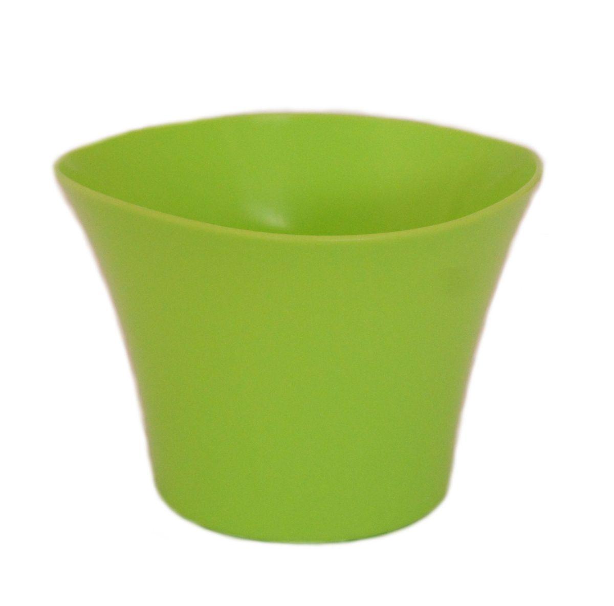 Кашпо JetPlast Волна, цвет: фисташковый, 600 мл4612754051984Кашпо Волна имеет уникальную форму, сочетающуюся как с классическим, так и с современным дизайном интерьера. Оно изготовлено из прочного полипропилена (пластика) и предназначено для выращивания растений, цветов и трав в домашних условиях. Такое кашпо порадует вас функциональностью, а благодаря лаконичному дизайну впишется в любой интерьер помещения. Объем кашпо: 600 мл.