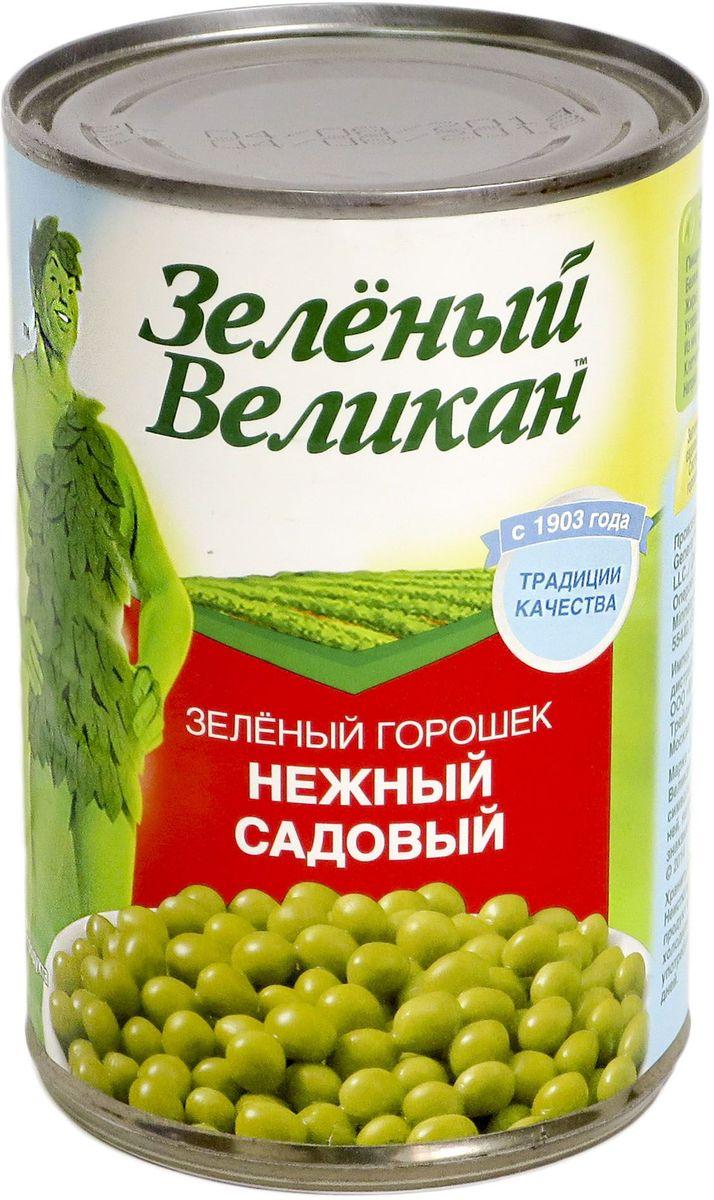 Зеленый великан горошек садовый, 425 г18113Горошек нежный, специальной консервации, очень хорош для салатов, и как самостоятельное блюдо или гарнир.