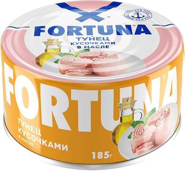 Fortuna тунец кусочками в масле, 185 г26119