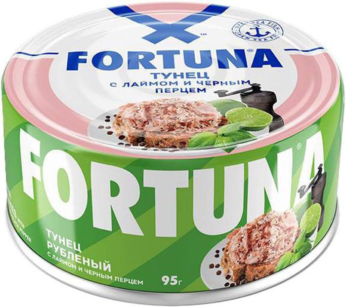 Fortuna тунец рубленый с лаймом и черным перцем, 95 г 26133