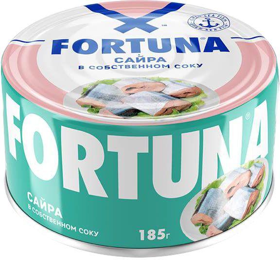 Fortuna сайра в собственном соку, 185 г26401