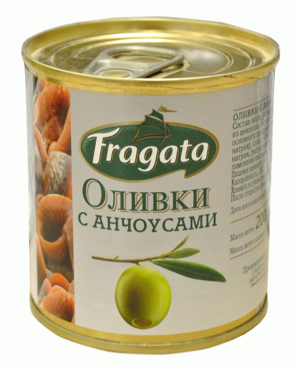Fragata оливки с анчоусом, 200 г34113