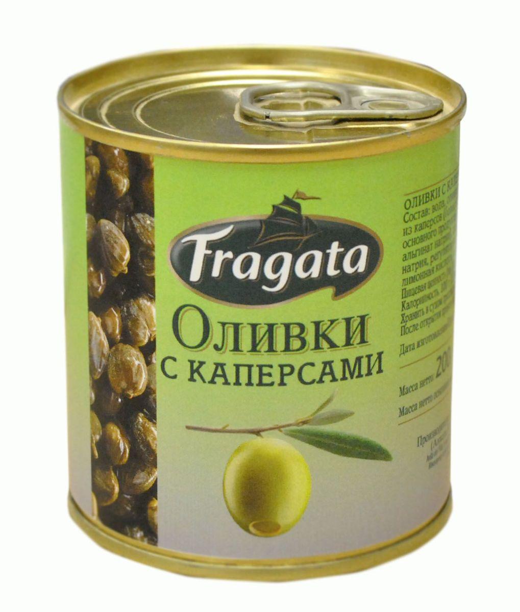 Fragata оливки с каперсами, 200 г34120Маслины и оливки Fragata производятся компанией Angel Camacho, лучшим испанским производителем высококачественных оливок и маслин в среднем ценовом сегменте уже в течение 100 лет.