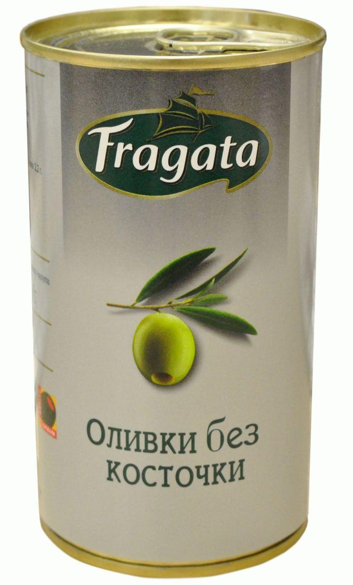Fragata оливки без косточки, 350 г34137В жестяной банке находятся зеленые отборные оливки, не содержащие косточек.