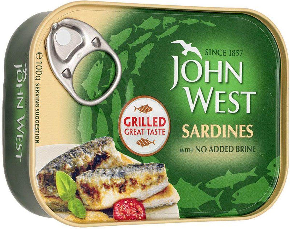 John West сардины гриль, 100 г64606John West - это широкий ассортимент рыбной консервации премиального европейского качества.