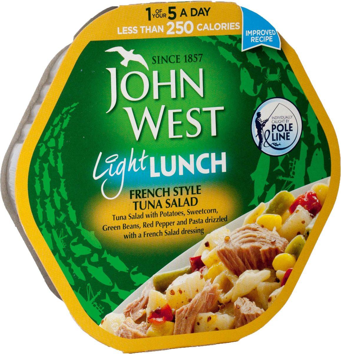 John West легкий обед с тунцом французский, 220 г64706John West John West тунец цельный в растительном масле. Тунец - очень полезная рыба с замечательным вкусом. В ней содержится небольшое количество жиров, но очень много белков.