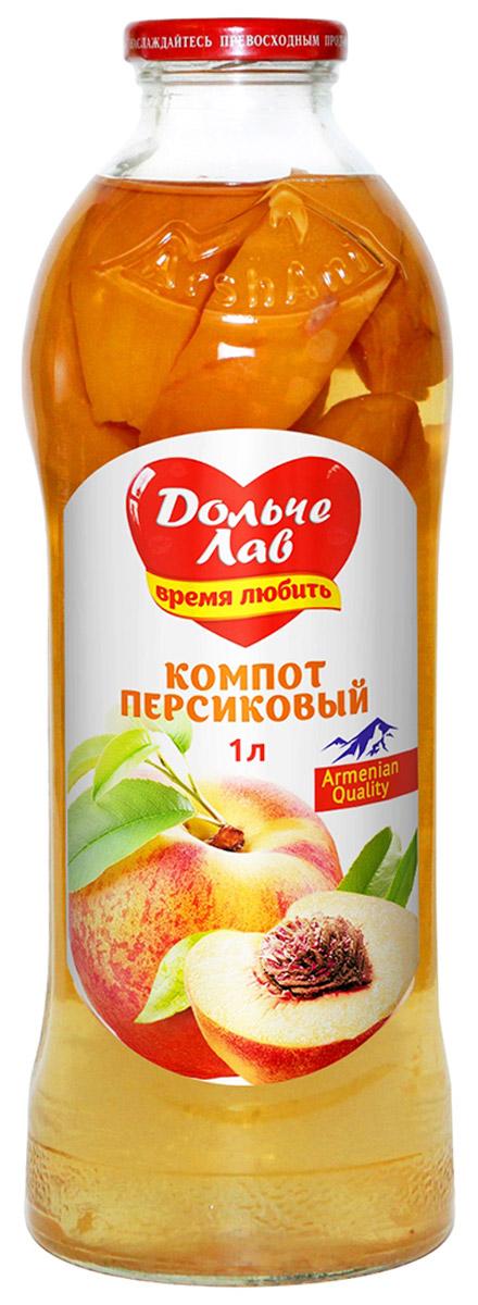 Дольче Лав компот персиковый, 1 л0105112062310007