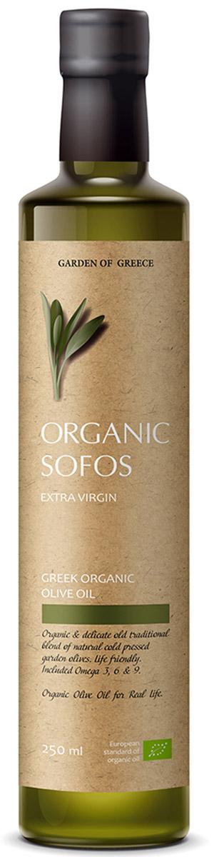 Sofos Organic Extra Virgin масло оливковое нерафинированное, 250 мл (Греция)
