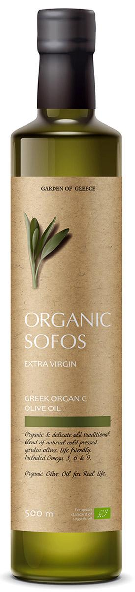 Sofos Organic Extra Virgin масло оливковое нерафинированное, 500 мл (Греция)