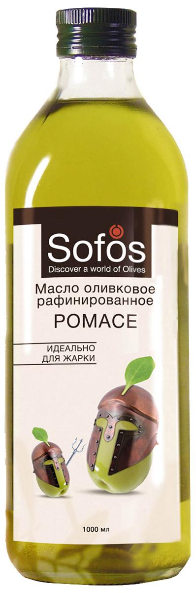Sofos Pomace масло оливковое рафинированное идеально для жарки, 1 л