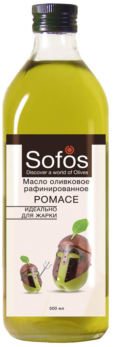 Sofos Pomace масло оливковое рафинированное идеально для жарки, 500 мл