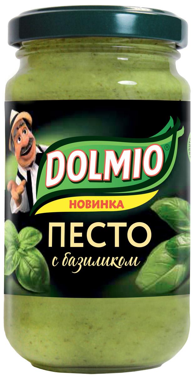 Dolmio соус песто с базиликом, 180 г10121582Традиционный для Италии соус с базиликом, орехами и твердым сыром. Рыба, мясо, макароны, рис, салат - соус Dolmio раскроет вкус знакомых блюд по-новому.