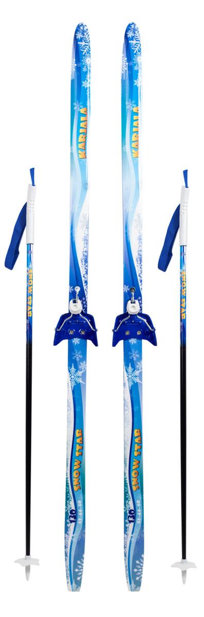 Беговые лыжи Karjala Snowstar, с креплением 75 мм, цвет: синий, рост 130 см42031(130)Лыжный комплект: беговые лыжи Karjala Snowstar детские, рост 130 см, крепления 75мм, цвет: синий. В комплект входят: - лыжи с установленными креплениями 75мм - палки из 100% стекловолокна с безлопастными пластиковыми наконечниками Лыжи Karjala Snowstar: - Технология CAP, позволяет увеличить прочность лыжи их долговечность и надежность - Сердечник изготовлен из дерева - Скользящая поверхность - Экструдированый полиэтилен низкого давления ПЭНД, обладающий высокой степенью защиты от царапин и вмятин. Крепления: 75мм, изготовленные из прочного алюминиевого сплава Karjala (Карелия) – самая известная российская марка беговых лыж и аксессуаров, которая уже более полувека производит спортивный инвентарь. Характеристики:Рост: 120 см Геометрия: 50-50-50 Материал: пластик, дерево, металл Цвет: синий Крепления: Karjala 75 мм Размер упаковки: 140х70х12