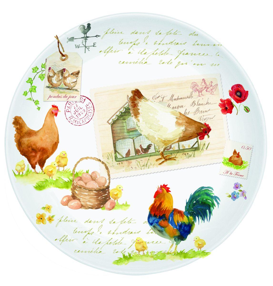 Тарелка десертная Nuova R2S Петух и курица, диаметр 19 см324CTLIТарелка десертная Nuova R2S Петух и курица, выполненная из высококачественного костяного фарфора, декорирована оригинальным рисунком. Изящный дизайн придется по вкусу и ценителям классики, и тем, кто предпочитает утонченность. Тарелка десертная Nuova R2S Петух и курица идеально подойдет для сервировки стола и станет отличным подарком к любому празднику. Диаметр тарелки (по верхнему краю): 19 см.