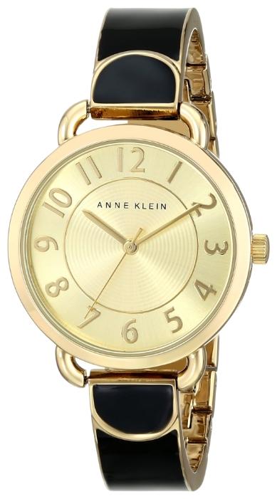 Наручные часы женские Anne Klein, цвет: черный, золотистый. 1606 BKGB1606 BKGBКорпус: металл, PVD покрытие, 32 мм, стекло: минеральное, браслет: металл, PVD покрытие, механизм: кварцевый, водозащита: 3 АТМ