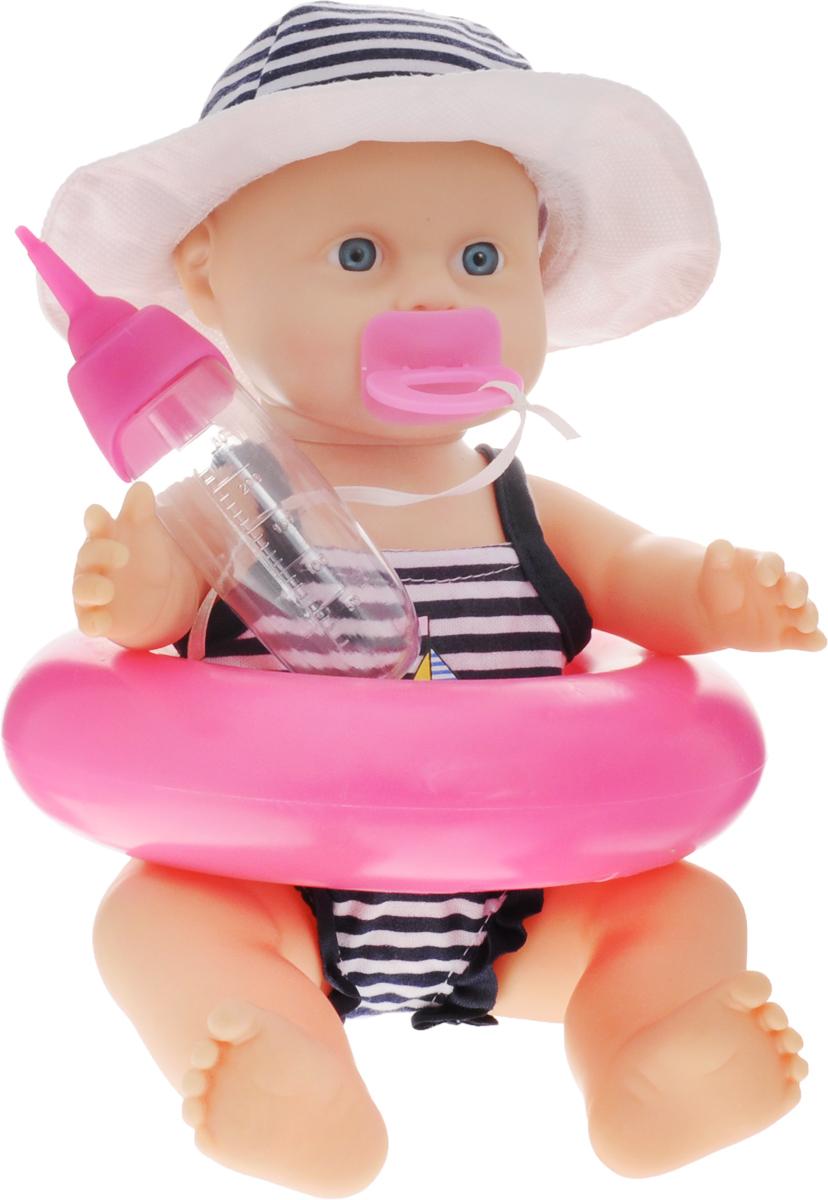 Simba Пупс цвет круга розовый5033004/розовый кругПорадуйте свою девочку пупсом Simba в плавательном костюме. Он оснащен плавательным кругом, а значит, его можно брать с собой в ванную или на пляж. Кроме того, пупс умеет пить и писать, таким образом, вы сможете научить девочку ухаживать за младшими, проявлять заботу и чуткость. Данная модель изготовлена из качественных материалов и, несомненно, понравится каждой девчонке. В комплекте к пупсу прилагаются пустышка, плавательный круг и бутылочка.