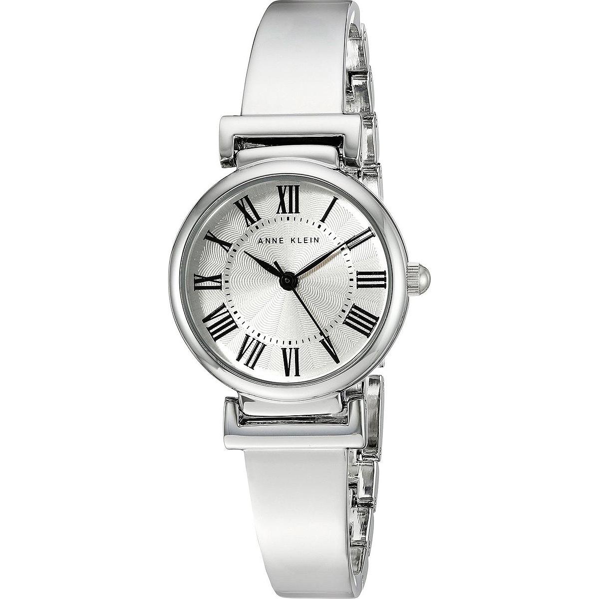 Наручные часы женские Anne Klein, цвет: серебристый. 2229 SVSV2229 SVSVКорпус 28 мм с серебристым покрытием, Циферблат серебристый, браслет сплав серебристого цвета, Минеральное стекло, Водозащита 3 АТМ