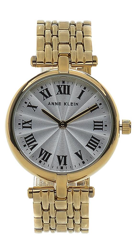Наручные часы женские Anne Klein, цвет: золотой, белый. 2356 SVGB2356 SVGBКорпус: 30,5мм, металл с золотистым покрытием; Стекло: минеральное; Браслет металл с золотистым покрытием; Механизм: кварцевый; водозащита 10 ATM