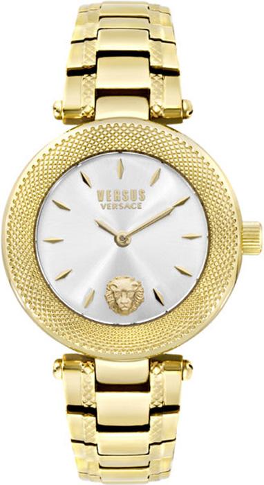 Наручные часы женские Versus Versace, цвет: золотой, белый. S7105 0016S7105 0016Мех: Citizen 2025, 2-стрелочный кварц. Корпус: 36мм, нерж сталь IPG. Циферблат: цвет белый, голова льва на уровне 18ч, безель с текстурным декором. Браслет: нерж сталь IPG. WR: 3 ATM