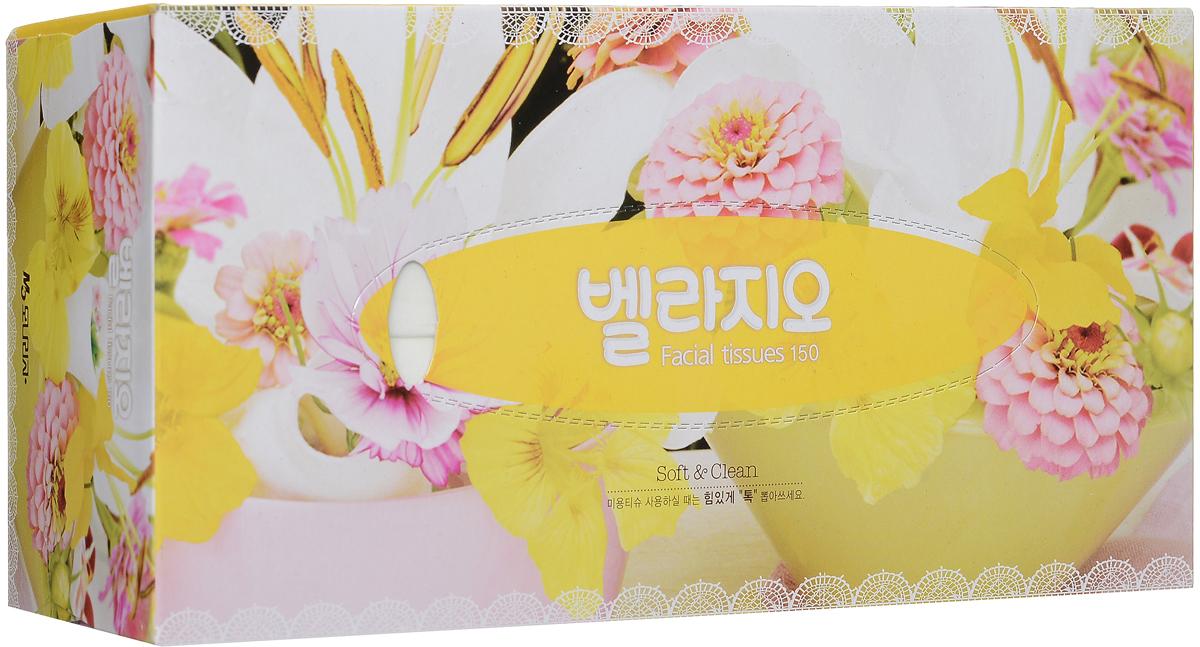 Monalisa Салфетки для лица Bellagio, цвет: желтый, 150 шт223656, 232655_желтыйMonalisa Салфетки для лица Bellagio, цвет: желтый, 150 шт