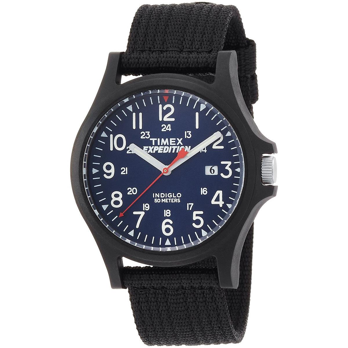 Наручные часы мужские Timex, цвет: черный. TW4999900TW4999900Облегченный дизайн, ремешок: нейлон, Ширина корпуса 40мм, Водозащита 5M, Подстветка INDIGLO®