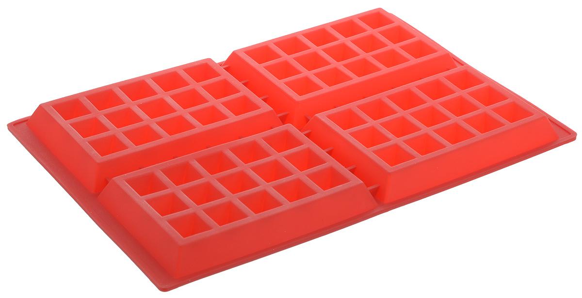 Форма для выпечки Bradex Венские вафли, силиконовая, 4 ячейкиTK 0212Форма Bradex Венские вафли, выполненная из силикона, будет отличным выбором для всех любителей домашней выпечки. Форма имеет 4 ячейки. Силиконовые формы для выпечки имеют множество преимуществ по сравнению с традиционными металлическими формами и противнями. Нет необходимости смазывать форму маслом. Форма быстро нагревается, равномерно пропекает, не допускает подгорания выпечки с краев или снизу. Вынимать продукты из формы очень легко. Слегка выверните края формы или оттяните в сторону, и ваша выпечка легко выскользнет из формы. Материал устойчив к фруктовым кислотам, не ржавеет, на нем не образуются пятна. Форма может быть использована в духовках и микроволновых печах (выдерживает температуру от -40°С до +220°С). Размер ячейки: 9 х 14 х 1,5 см.