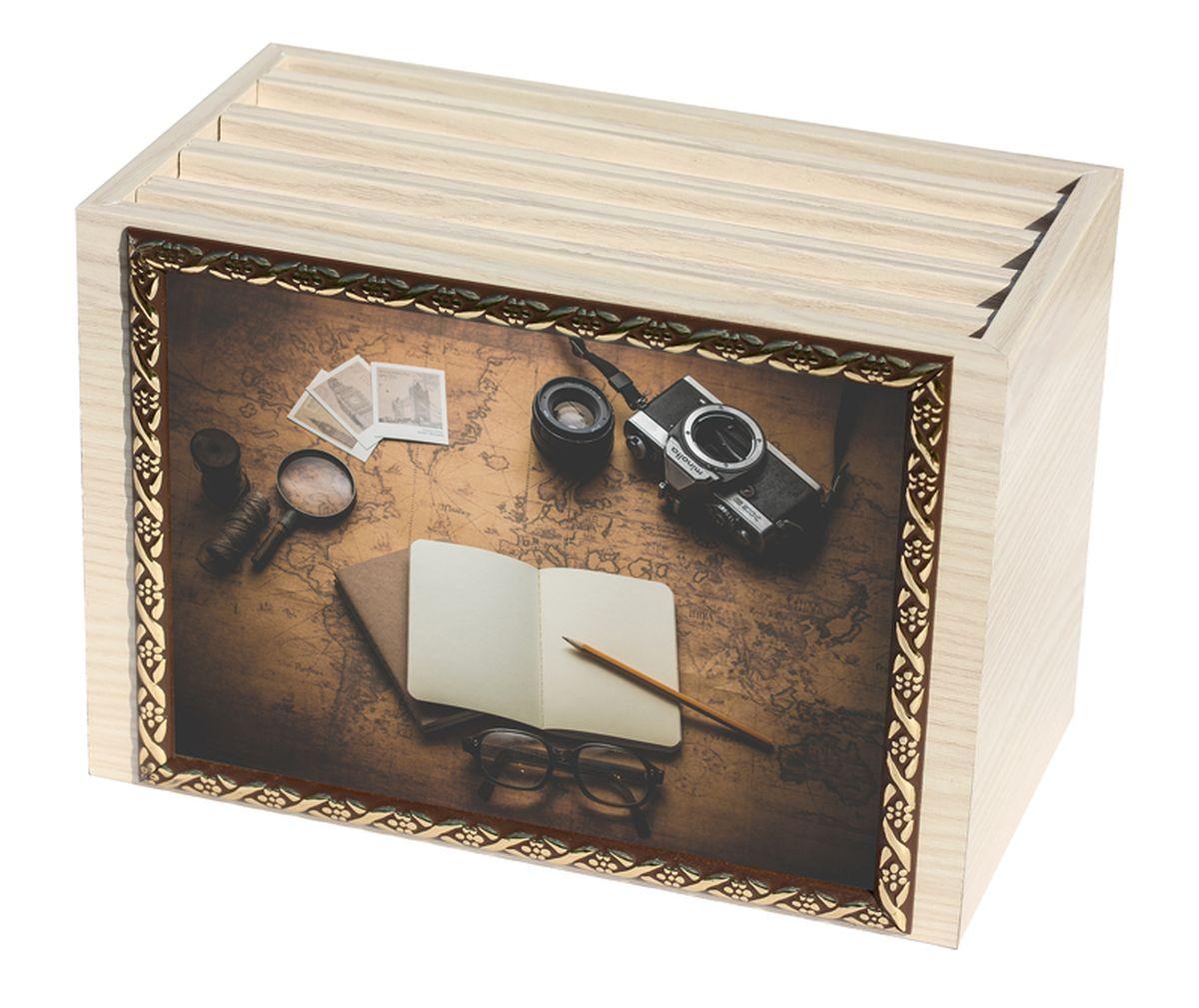 Фотобокс Milarte, 96 фотографий, 16 х 9 х 22 см. FBVD-119006FBVD-119006Фотобокс Milarte поможет аккуратно и стильно хранить ваши фотографии. Фотобокс выполнен из МДФ цвета выбеленный дуб. Изображение нанесено с лицевой стороны на корпус и обрамлено пластиковой рамкой с узором. Фотобокс содержит 4 вынимающиеся вкладки с ПВХ-карманами для фото, по 24 штуки каждая. Стильный и красивый фотобокс не только отлично дополнит интерьер, но и станет чудесным подарком к любому случаю, который обязательно порадует получателя. Размер изображения: 16 х 11 см.