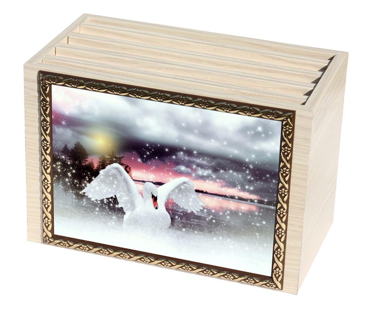 Фотобокс Milarte, 96 фотографий, 16 х 9 х 22 см. FBVD-119009FBVD-119009Фотобокс Milarte поможет аккуратно и стильно хранить ваши фотографии. Фотобокс выполнен из МДФ цвета выбеленный дуб. Изображение нанесено с лицевой стороны на корпус и обрамлено пластиковой рамкой с узором. Фотобокс содержит 4 вынимающиеся вкладки с ПВХ-карманами для фото, по 24 штуки каждая. Стильный и красивый фотобокс не только отлично дополнит интерьер, но и станет чудесным подарком к любому случаю, который обязательно порадует получателя. Размер изображения: 16 х 11 см.