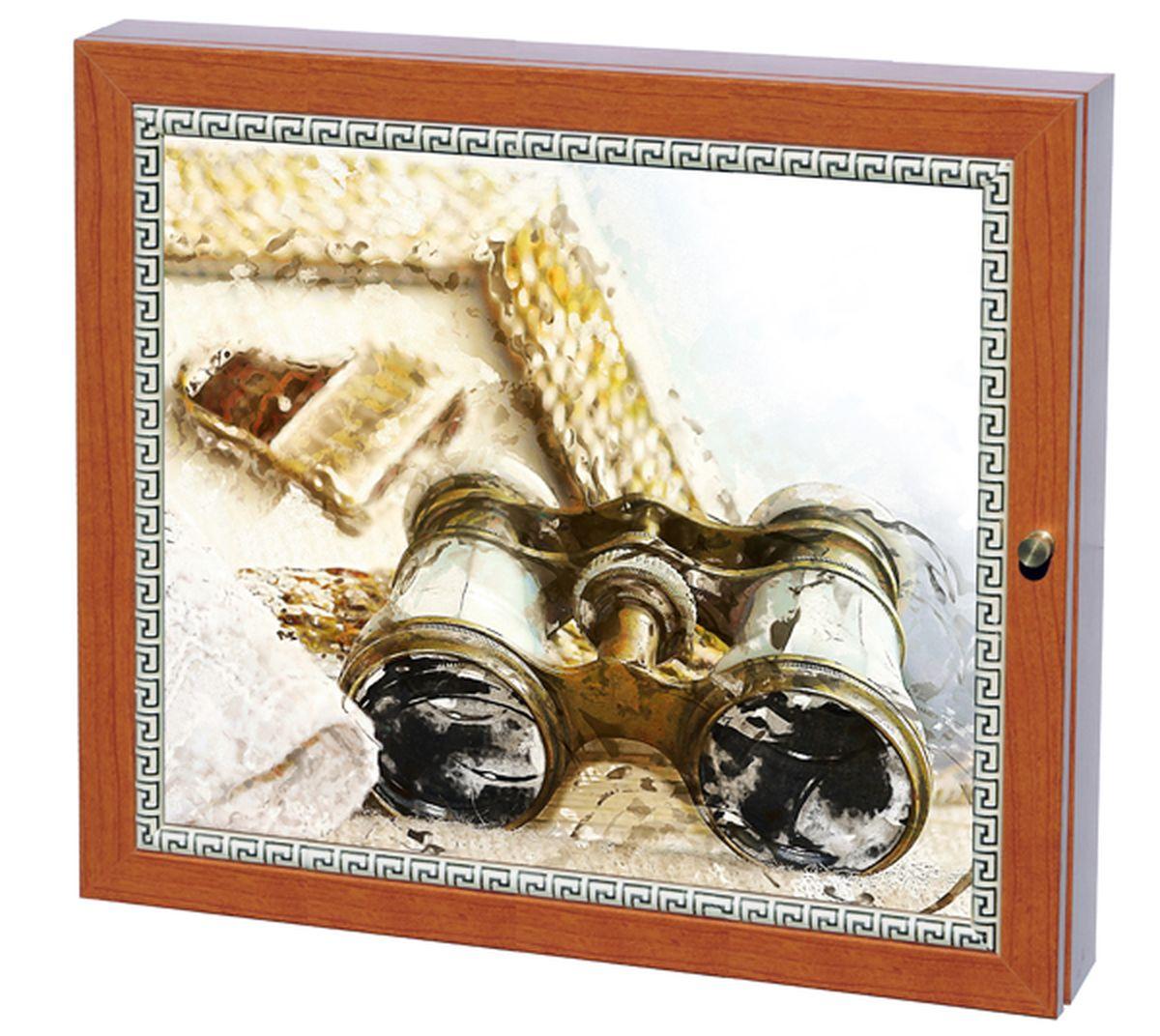 Вешалка-ключница Milarte Фэй, 25 х 30 х 5,5 см. KFV-116012KFV-116012Вешалка-ключница Milarte Фэй, выполненная из МДФ, украсит интерьер помещения, а также поможет создать атмосферу уюта. Ключница, декорированная оригинальным изображением, станет не только украшением вашего дома, но и послужит функционально. Она представляет собой ящичек, внутри которого предусмотрено 9 металлических крючков для ключей в два ряда. Дверца фиксируется к корпусу на крючок. Вешалка-ключница подвешивается на стену, крепежные элементы входят в комплект. Размер изображения: 24 х 19 см.