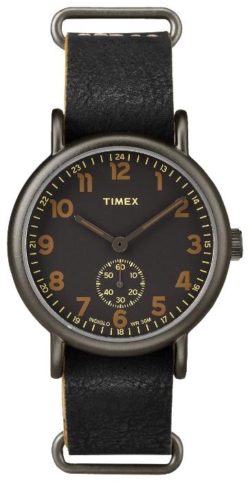Наручные часы мужские Timex, цвет: черный. TW2P86700TW2P86700Корпус 40 мм темно-серого цвета; на ремне из натуральной кожи с возможностью фиксации корпуса под размер запястья; минеральное стекло; аналоговый циферблат черного цвета с отдельным окном отсчета секунд, арабские цифры; подсветка INDIGLO; водозащита 3 AТМ